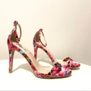 Shoes - Floral Pink High Heels